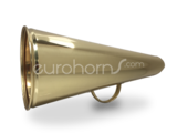 Large brass megaphone or call horn