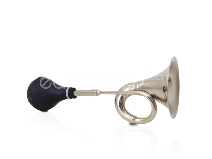 Nickel Taxi Horn with Rubber Bulb