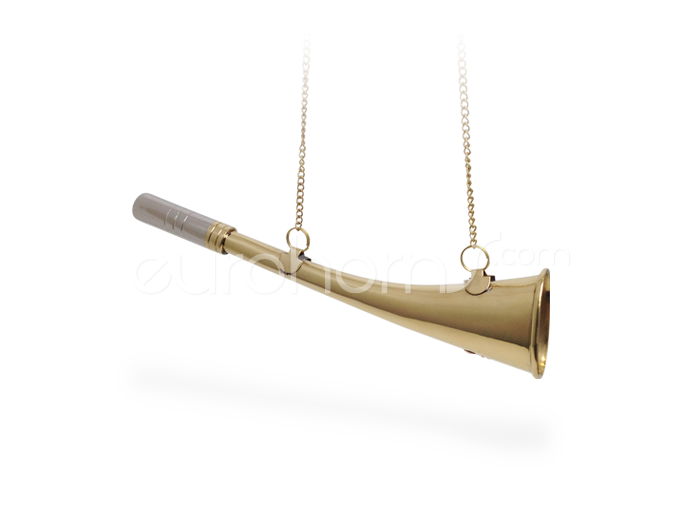 23cm Curved Brass Horn