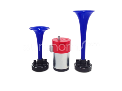 FIAMM 921986 Double Air Horn set with compressor M4 TA2 in Blue